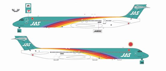 "JAS MD-90 ""Rainbow Cruising Scheme #4"" ~ JA8062 (1:200)"