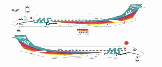 "JAS MD-90 ""Rainbow Cruising Scheme #2"" ~ JA8020 (1:200)"