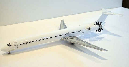 MD-92 with UHB Engine (1) - Generic (White Paint with Windows) (1:200), Jet X 1:200 Scale Diecast Item Number JETL069C