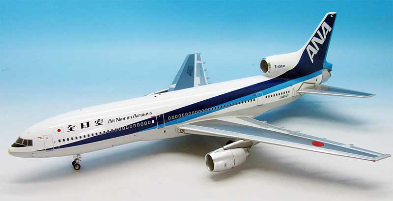 ANA L-1011 JA8521 (1:200) Grey Belly and Yellow Nose Cap, Japanese Titles