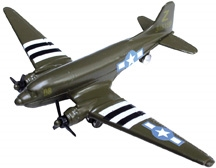 "C-47 Green (3.5""), Motormax Diecast Item Number IN-WW47"