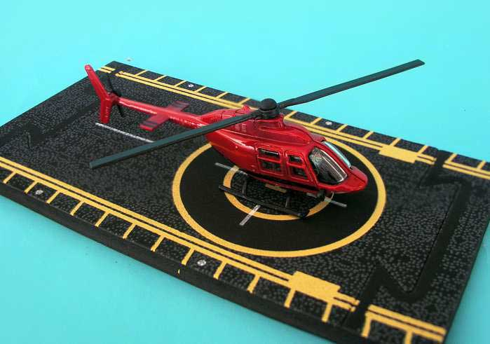 "Bell 206 Jetranger (red)  (Approx. 5""), Hot Wings Toy Airplanes Item Number HW13108"