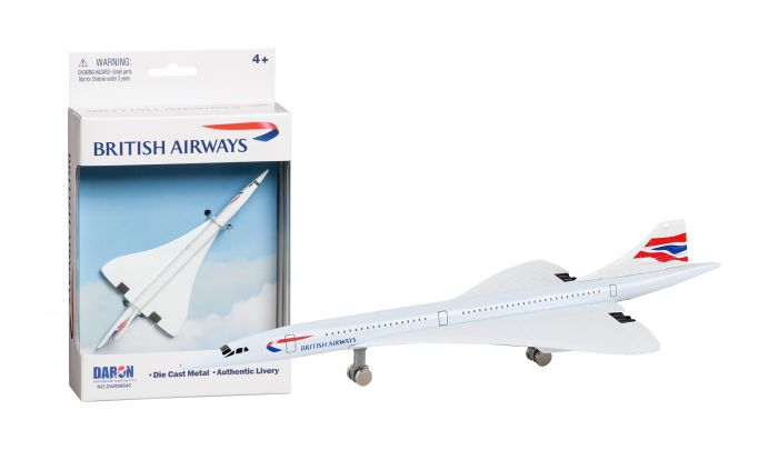 "British Airways Concorde Airliner (5"") by Realtoy Diecast Toys item number: DAR98845"