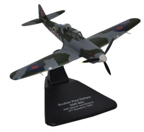 Boulton Paul Defiant Mk.I, No. 277 Squadron, Royal Air Force, 1942, Oxford Diecast 1:72 Scale Models Item Number AC058