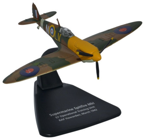 Supermarine Spitfire Mk.I, 57 OTU (Operational Training Unit), RAF Hawarden, March 1942 (1:72), Oxford Diecast 1:72 Scale Models Item Number AC066