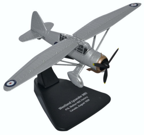 Westland Lysander Mk.II, #416, first Canadian-built Lysander, Malton Airport NSC Factory/RCAF, 1939, Oxford Diecast 1:72 Scale Models Item Number AC072