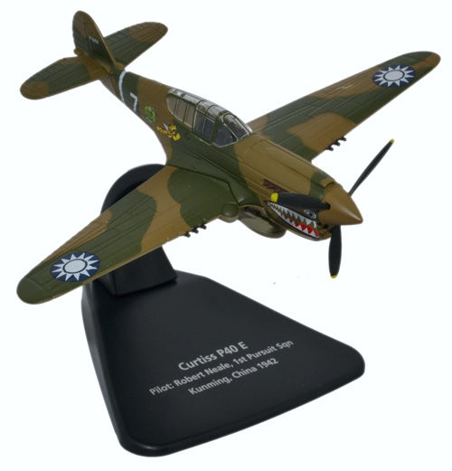 "Curtiss P-40 Warhawk, 13-Victory Ace Robert Neale, 1st Squadron Commander, AVG ""Flying Tigers"", Oxford Diecast 1:72 Scale Models Item Number AC074"