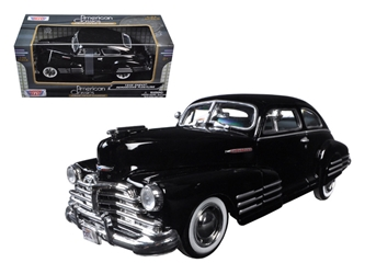 1948 Chevrolet Aerosedan Fleetline Black 1/24 Diecast Model Car by Motormax
