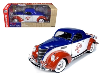 "1937 Lincoln Zephyr Coupe ""Pepsi Cola"" Limited to 1:1500 pc (1:18)"