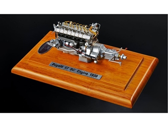 Bugatti 57 SC Corsica Engine with Display Showcase 1/18 Diecast Model by CMC