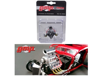 1934 Blown 426 Nitro Coupe Drag Engine and Transmission Replica (1:18)