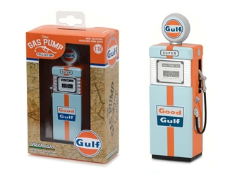 1951 Wayne 505 Gulf Oil Gas Pump Replica Vintage Gas Pump Series 1 1/18 Diecast Model by Greenlight