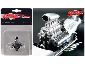 "Blown Drag Engine and Transmission Replica from ""The Chizler V"" Vintage Dragster 1/18 Model by GMP"