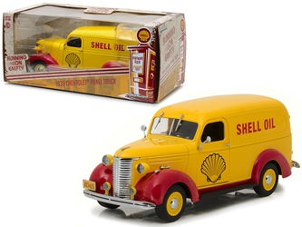 "1939 Chevrolet Panel Truck Shell Oil ""Running on Empty"" Series 1/24 Diecast Model Car by Greenlight"