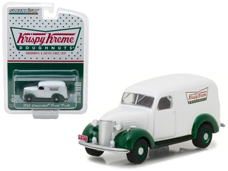 1939 Chevrolet Panel Truck Krispy Kreme Doughnuts Blue Collar Collection Series 3 1/64 Diecast Model Car by Greenlight