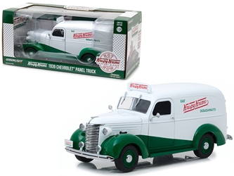 "1939 Chevrolet Panel Truck Krispy Kreme Doughnuts ""Running on Empty"" Series 1/24 Diecast Model Car by Greenlight"