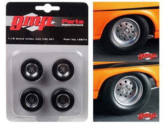 "1968 Chevrolet Nova ""1320 Drag Kings"" Wheels and Tires Set of 4 1/18 by GMP"