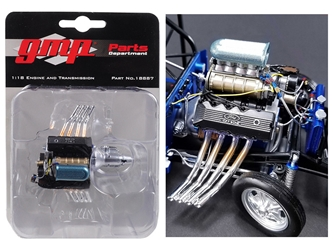Engine and Transmission Replica 427 Blown SONC Gasser Ohio Georges 1967 Ford Mustang 1/18 by GMP