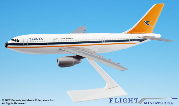 South African Airways A300B2 (1:200), Flight Miniatures Snap-Fit Airliners, Item Number AB-30000H-005