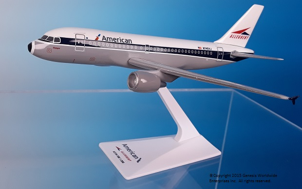 "American / Allegheny A319 ""Heritage Livery"" (1:200), Flight Miniatures Snap-Fit Airliners, Item Number AB-31900H-011"