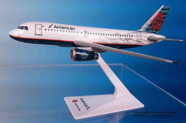 "American / America West A319 ""Heritage Livery"" (1:200), Flight Miniatures Snap-Fit Airliners, Item Number AB-31900H-012"