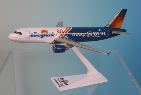 "Allegiant Air ""Make-A-Wish Foundation"" A320-200 (1:200), Flight Miniatures Snap-Fit Airliners, Item Number AB-32020H-062"