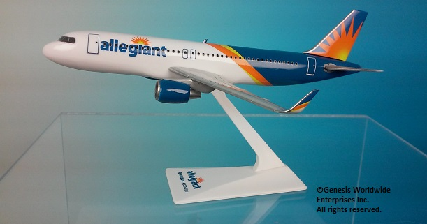Allegiant A320 2017 Livery (1:200), Flight Miniatures Snap-Fit Airliners, Item Number AB-32020H-064