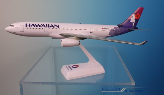 Hawaiian A330-200 New Livery (1:200), Flight Miniatures Snap-Fit Airliners, Item Number AB-33020H-013