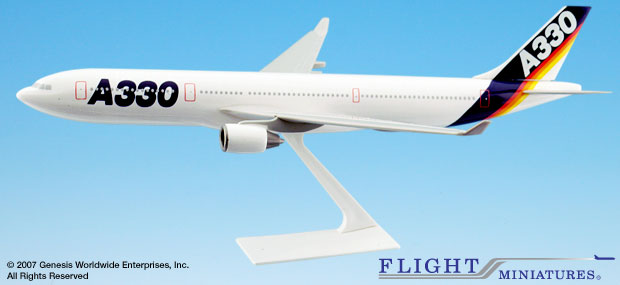 Airbus House Colors A330-300 (1:200), Flight Miniatures Snap-Fit Airliners, Item Number AB-33030H-001