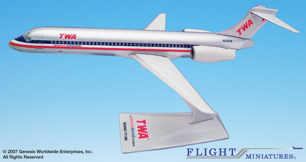 TWA/AA Interim Scheme B717 (1:200), Flight Miniatures Snap-Fit Airliners, Item Number BO-71720H-005