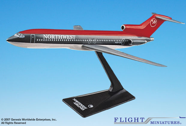Northwest (90S) B727-200 (1:200), Flight Miniatures Snap-Fit Airliners, Item Number BO-72720H-006