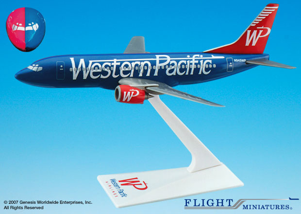 "Western Pacific 737-300 ""Split"" (1:200), Flight Miniatures Snap-Fit Airliners, Item Number BO-73730H-010"