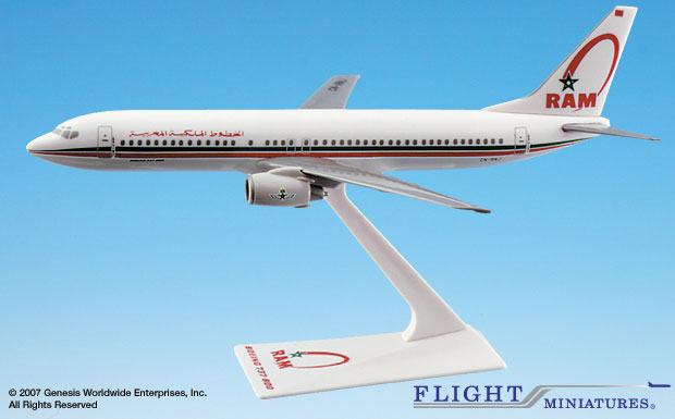 Royal Air Maroc B737-800 (1:200), Flight Miniatures Snap-Fit Airliners, Item Number BO-73780H-006