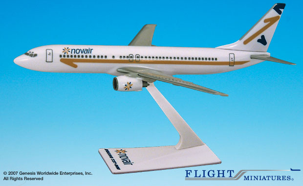 Novair B737-800 (1:200), Flight Miniatures Snap-Fit Airliners, Item Number BO-73780H-021