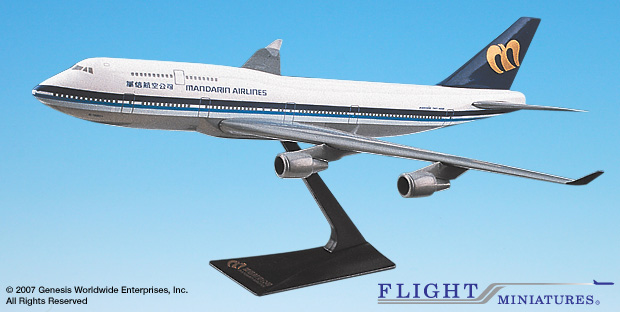 Mandarin B747-400 (1:250), Flight Miniatures Snap-Fit Airliners, Item Number BO-74740I-018