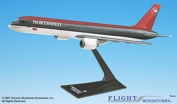 Northwest 757-200 (Old Colors) (1:200), Flight Miniatures Snap-Fit Airliners, Item Number BO-75720H-006