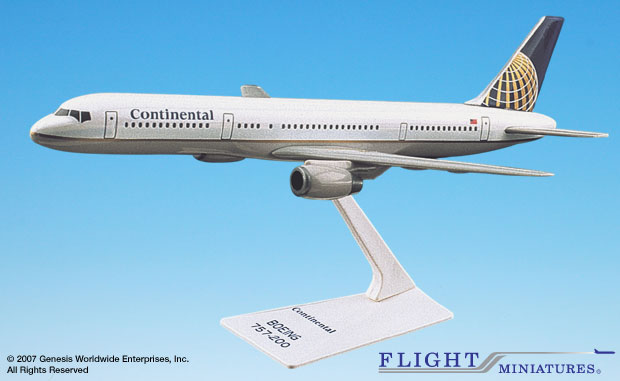 Continental 757-200 (1:200), Flight Miniatures Snap-Fit Airliners, Item Number BO-75720H-022