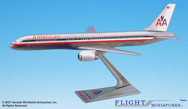 American 757-200 (1:200), Flight Miniatures Snap-Fit Airliners, Item Number BO-75720H-030