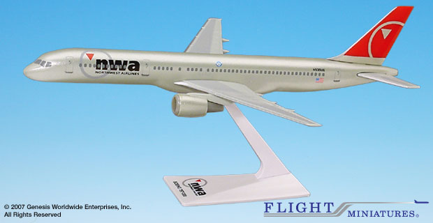 Northwest 757-200 (New Colors) (1:200), Flight Miniatures Snap-Fit Airliners, Item Number BO-75720H-056