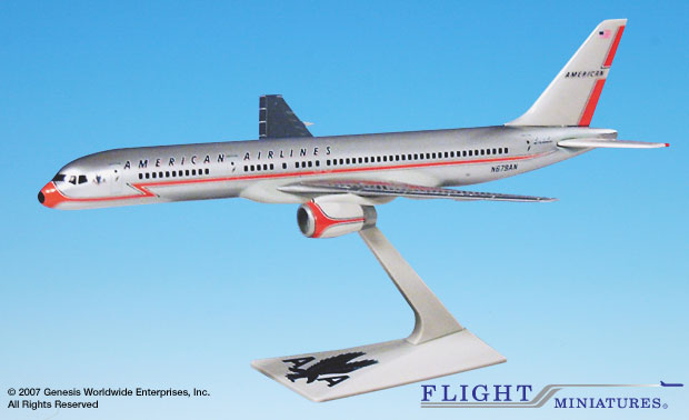 American 757-200 40th Ann. (1:200), Flight Miniatures Snap-Fit Airliners, Item Number BO-75720H-200
