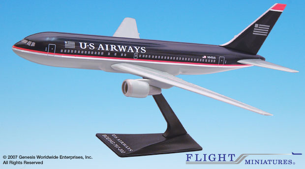 US Airways 767-200 (1:200), Flight Miniatures Snap-Fit Airliners, Item Number BO-76720H-016