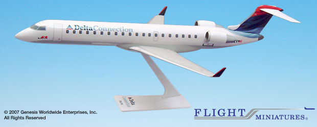 Delta Conn/ASA (00-07) CRJ700 (1:100), Flight Miniatures Snap-Fit Airliners, Item Number CA-70000C-003
