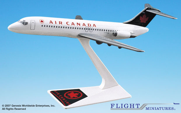 Air Canada DC-9-30 (1:200), Flight Miniatures Snap-Fit Airliners, Item Number DC-00903H-008