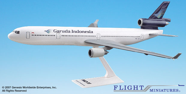 Garuda Indonesia MD-11 (1:200), Flight Miniatures Snap-Fit Airliners, Item Number MD-01100H-009
