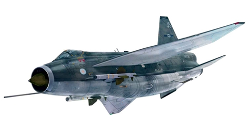 English Electric Lightning F6 XR728/JS , RAF Binbrook (1:48), Corgi Diecast Aviation Item Number AA28401