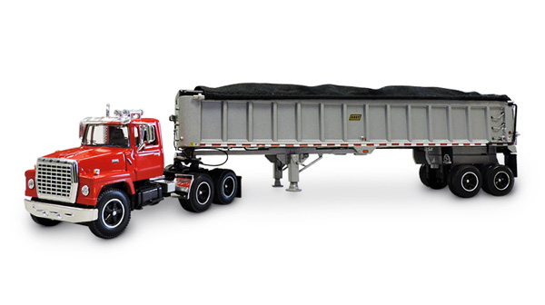 EAST Manufacturing 50th Anniversary - Ford 9000 Day Cab with East End-Dump Trailer (1:64)