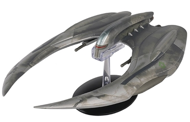 Battlestar Galactica - Cylon Raider <br>Battlestar Galactica: The Offical Starships Collection, Eagle Moss, Item Number EMBSG02