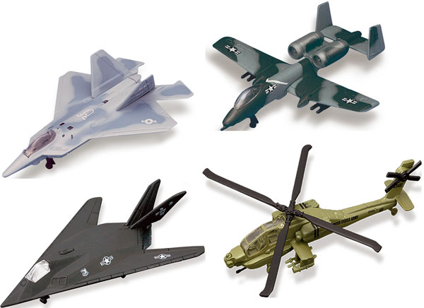 Military Aircraft 4-Piece SET (1:120)
