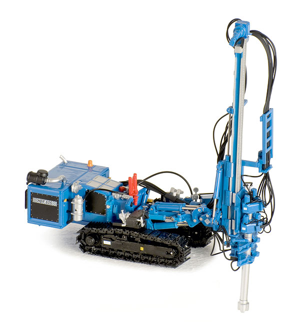 Hutte HBR 605 Hydraulic Drill Rig in Blue (1:50)