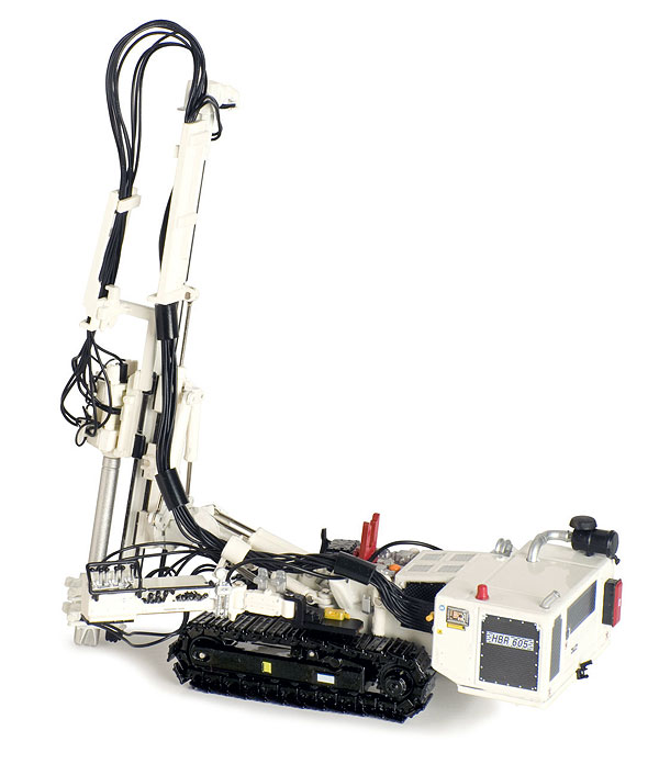 Hutte HBR 605 Hydraulic Drill Rig in White (1:50)